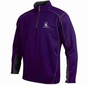 Northwestern Wildcats Under Armour Adult  Purple Armour Fleece 1/4 Zip