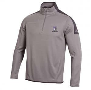 Northwestern University Wildcats Under Armour Adult Grey Armour-2 Fleece 1/4 Zip