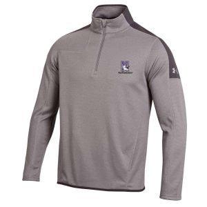 Northwestern University Wildcats Under Armour Adult Grey Armour-2 Fleece 1/4 Zip