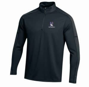Northwestern University Wildcats Under Armour Adult Black Armour-2 Fleece 1/4 Zip