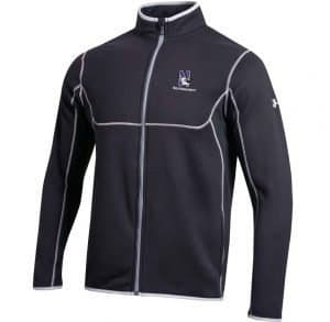 Northwestern University Wildcats Under Armour Black Celcius Full Zip