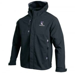 Northwestern University Wildcats Under Armour Adult Black Elements Softshell Jacket