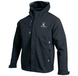 Northwestern Wildcats Under Armour Adult Black Elements Softshell Jacket