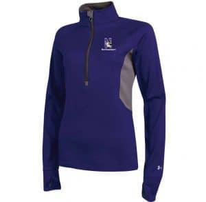 Northwestern Wildcats Under Armour Ladies Purple Capture Half Zip