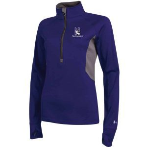 Northwestern University Wildcats Under Armour Ladies Purple Capture Half Zip