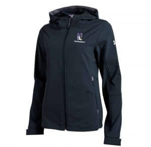Northwestern University Wildcats Under Armour Ladies Black Strike Softshell Jacket