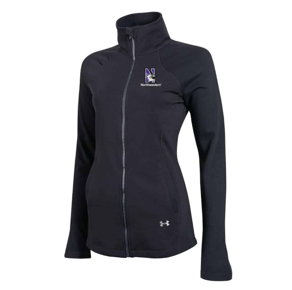 e73a93f0d Northwestern University Wildcats Under Armour Ladies Black Fullzip Light  Weight Jacket