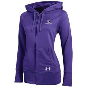 Northwestern Wildcats Under Armour Varsity Ladies Purple Zip-Hood