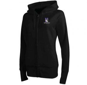 Northwestern Wildcats Under Armour Varsity Ladies Black Zip-Hood