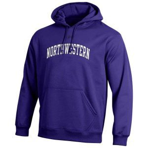 Northwestern University Wildcats Under Armour Purple Fleece Hood with Printed Arched Northwestern Design