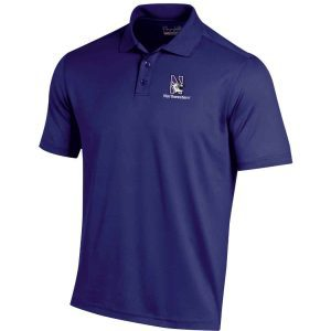 Northwestern University Wildcats Under Armour Ladies Solid Purple Polo Shirt with Left Chest N-Cat Northwestern Embroidery