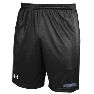 Northwestern University Wildcats Under Armour Black Micro Shorts with Printed Arched Northwestern Design