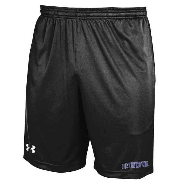 Northwestern Wildcats Under Armour Black Micro Shorts with Printed Arched Northwestern Design