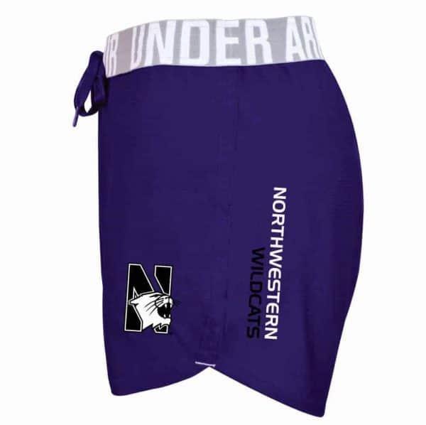 Northwestern University Wildcats Under Armour Ladies Purple Play Up Short
