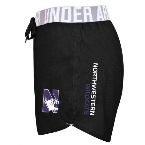 Northwestern University Wildcats Under Armour Ladies Black Play Up Short