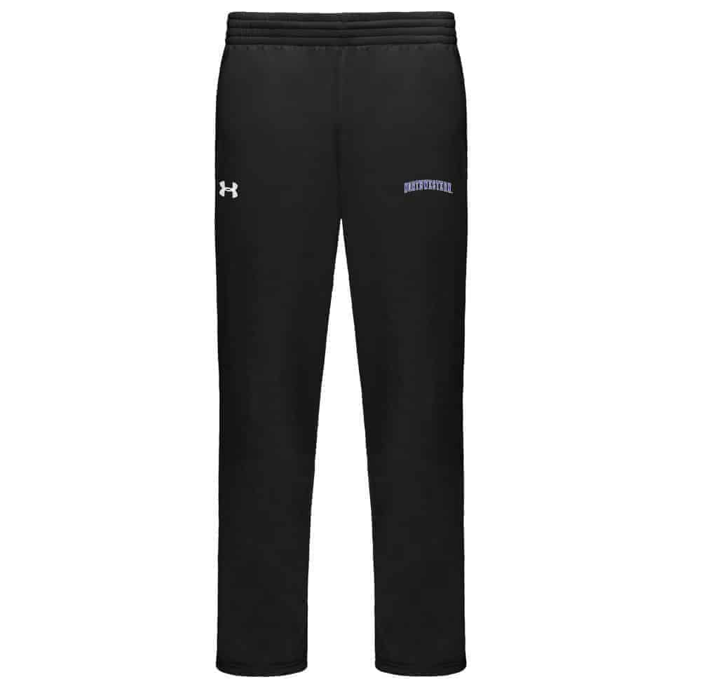 Northwestern Wildcats Under Armour Fleece Pant with Printed Arched Northwestern Design
