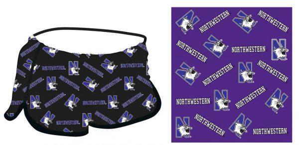 Northwestern Wildcats Ladies Black All-Over Print Prep Short