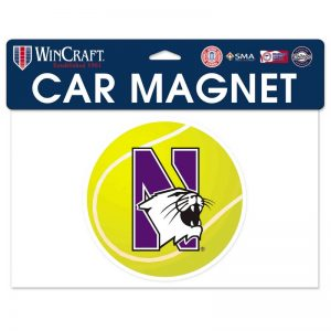 "Northwestern Wildcats Flexible Magnet with N-Cat Printed on a Multicolor Image of a Tennis Ball 6.1"" x 6.1"""