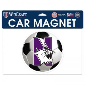 "Northwestern Wildcats Flexible Magnet with N-Cat Printed on a Multicolor Image of a Soccer Ball 6.1"" x 6.1"""