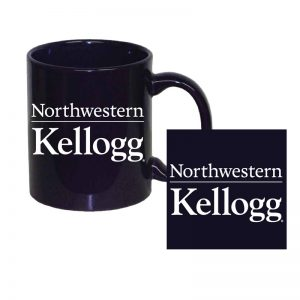 Northwestern University Wildcats 11 oz. Purple Ceramic Coffee Mug with Kellogg Design