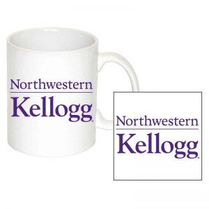Northwestern University Wildcats 11 oz. White Ceramic Coffee Mug with Kellogg Design