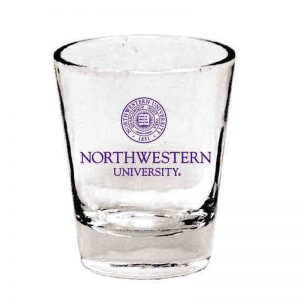 Northwestern Wildcats 1.5 oz. Clear Collector Shot Glass With Seal Design