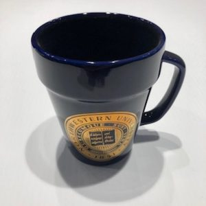 Northwestern Wildcats 14 oz. Black Ceramic Coffee Mug with Gold Seal Design