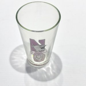 Northwestern Wildcats 16 oz. Clear Pint Glass with N-Cat Design