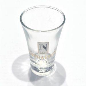 """Northwestern Wildcats 2 oz. Flared Shot Glass with """"Gold Northwestern"""" Design"""