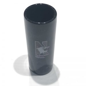 Northwestern Wildcats 2.5 oz. Black Marble Ceramic Shooter Shot Glass with N-Cat Design