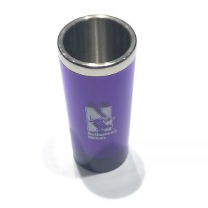 Northwestern Wildcats 2.5 oz. Purple Stainless Steel Shooter Shot Glass with N-Cat Design