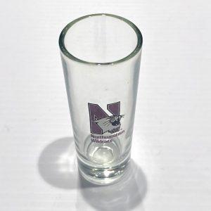 Northwestern Wildcats 7.5 oz. Cylinder Bud Vase with N-Cat Design
