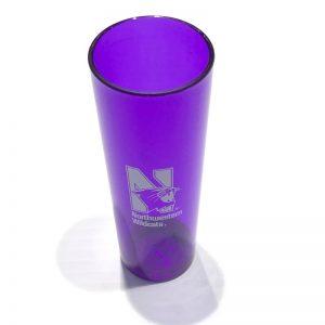 Northwestern University Wildcats 2.5 oz. Purple Acrylic Shooter Shot Glass with N-Cat Design