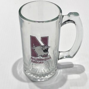 Northwestern Wildcats 12 oz. Large Beer Mug with Multi Color N-Cat Design