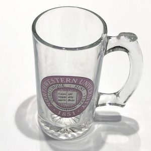 Northwestern Wildcats 12 oz. Large Beer Mug with Multi Color Seal Design
