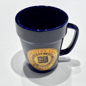 Northwestern Wildcats 14 oz. Cobalt Purple Ceramic Coffee Mug with Gold Seal Design