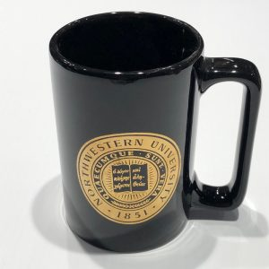 Northwestern Wildcats 15 oz. Black Ceramic Coffee Mug with Gold Seal Design
