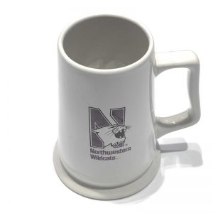 Northwestern Wildcats 26 oz. White Ceramic Stein with Multi Color N-Cat Design
