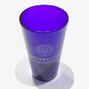 Northwestern University Wildcats Purple Pint Glass with Seal Design
