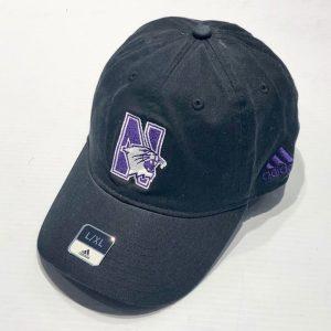 Northwestern University Wildcats Black Unconstructed Flexfit Hat with N-Cat Design