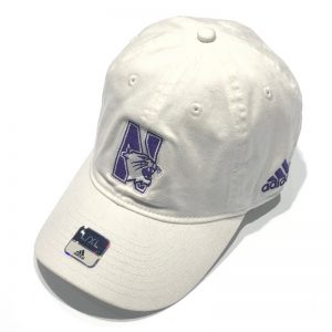 Northwestern University Wildcats White Unconstructed Flexfit Hat with N-Cat Design