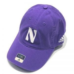 Northwestern University Wildcats Purple Unconstructed Flexfit Adidas Hat With Stylized N Design