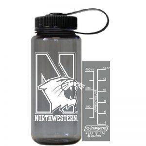 Northwestern University Wildcats 16 oz. Smoke Tritan Wide Mouth Nalgene Bottle with N-Cat Design