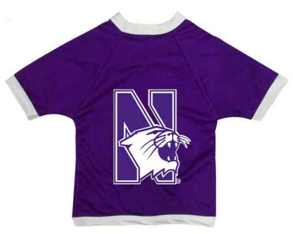 Northwestern University Wildcats Athletic Dog Jersey With N-Cat Design