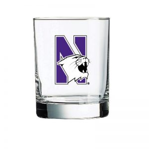 Northwestern Wildcats 14 oz. Executive Glass with N-Cat Design-2