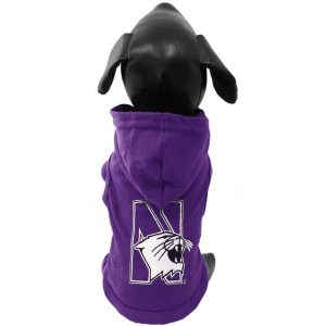 Northwestern University Wildcats Cotton Lycra Hooded Dog Shirt