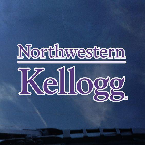 Northwestern University Kellogg Design Outside Application Decal