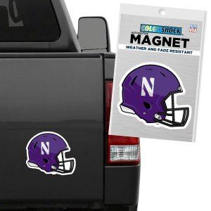 "Northwestern University Wildcats Flexible Magnet with Multicolor Football Helmet Design 6"""