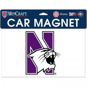"Northwestern Wildcats Flexible Magnet with Multicolor N-Cat Design 5""X6"""