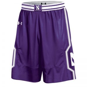 Northwestern University Wildcats Under Armour Purple Adult Replica Basketball Shorts